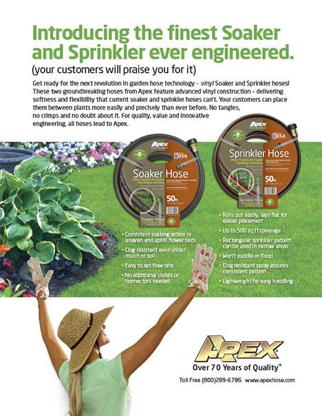 Soaker & Sprinkler Hose Ad